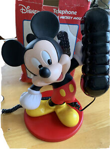 DISNEY-MICKEY-MOUSE-TELEPHONE-BY-MYBELLE-BOXED-PRESS-BUTTON-DIALING-RARE