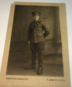 Antique-British-WWI-Mounted-Artillery-Soldier-Spurs-Real-Photo-Postcard-RPPC