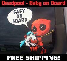 Deadpool Baby On Board Decal/Sticker