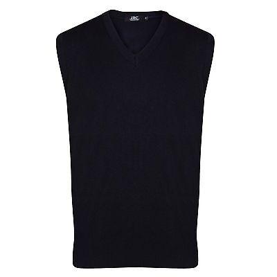 Mens Sleeveless V Neck Slipover Sweater Size: S - 5XL Golf Jumper Bodywarmer