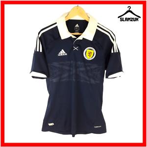 Adidas-SCOTLAND-Football-shirt-S-small-tartan-bleu-armee-Home-Soccer-Jersey-2012