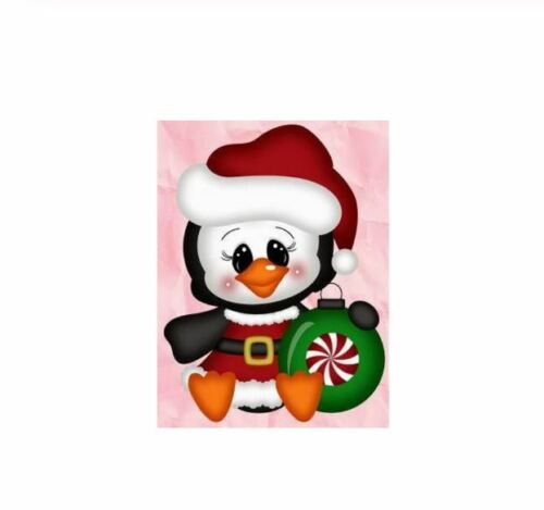 Penguin wearing a Santa Suit /& Hat with Christmas Bauble Metal Cutting die