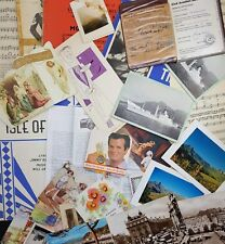 Job Lot of 1.5kg Vintage Ephemera; Letters, Documents, Cards; Ideal for Crafting