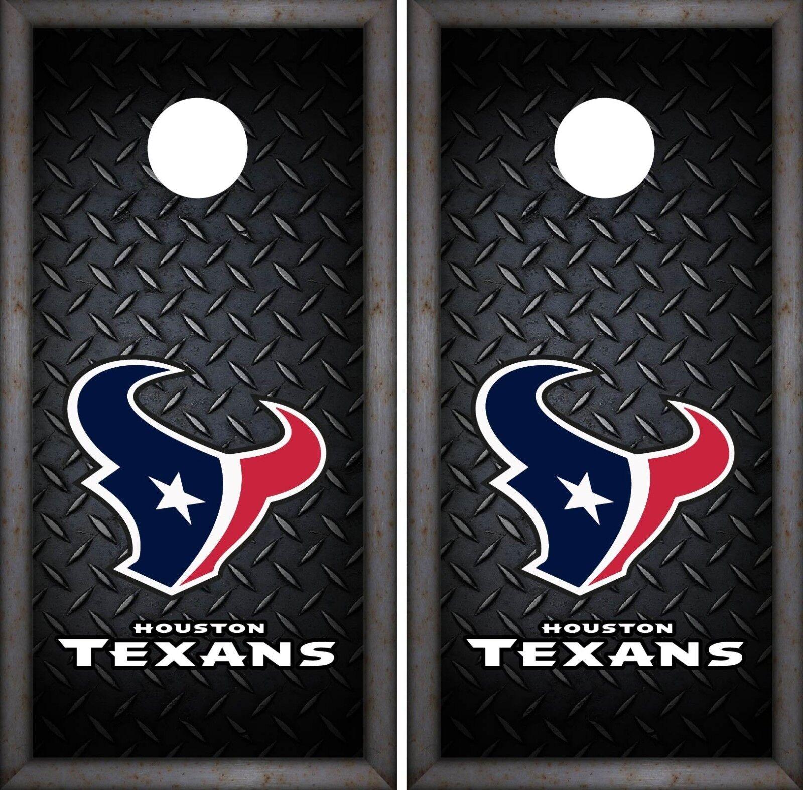 Houston  Texans Cornhole Wrap NFL Luxury Game Skin Board Set Vinyl Decal CO77  at cheap