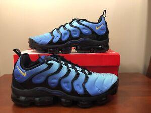 sports shoes 3c3db 07a08 Details about NIKE AIR VAPORMAX PLUS AIR MAX PLUS BLACK-HYPER BLUE SZ 14  [924453-008]