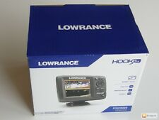 New in Box Lowrance Hook 5x Mid/High/DownScan 000-12653-001 Fish Finder