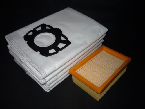 1 Abluftfilter passend Kärcher WD 5 WD 5 Premium,WD 5 Renovation Kit 5 Beutel