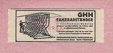 OBERHAUSEN, Werbung 1936, Gutehoffnungshütte Oberhausen AG GHH Fahrrad-Ständer