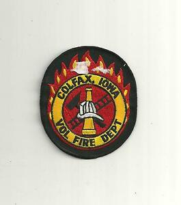 Colfax Iowa Vol Fire Department Patch Ebay