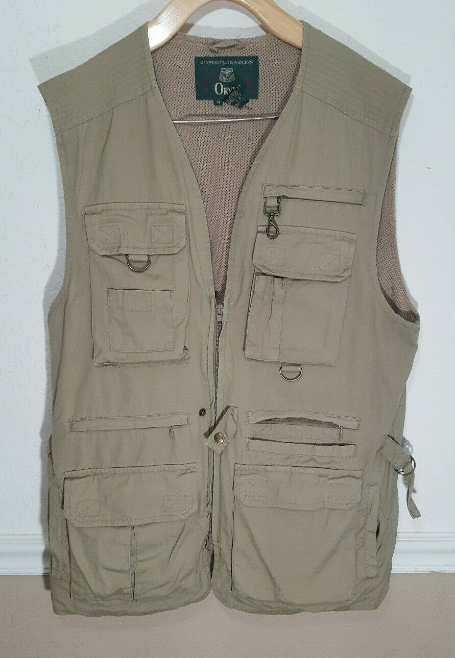 ORVIS Khaki Super Fly  Fishing Vest Mens Size Medium  check out the cheapest