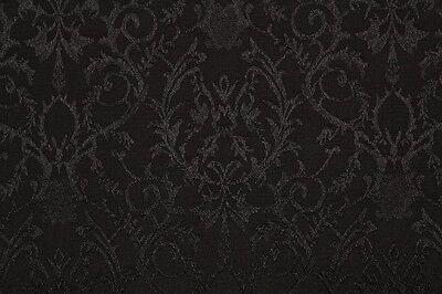 Poly Viscose Floral Regency Matte/Satin Jacquard Dress Fabric Material (Black)