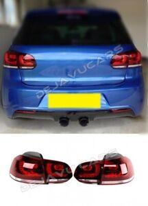 VW-Golf-6-VI-LED-Rueckleuchten-Heckleuchten-R-R20-GTI-GTD-TDI-FSI-TFSI-Kirschrot