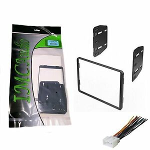 Double-Din-Dash-Kit-for-Car-Radio-Stereo-Install-Installation-with-Harness-Pkg