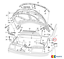 NEW Genuine VW Sharan 1996-2010 LHD Bonnet Release Lid Lock Cable 7m3823531b