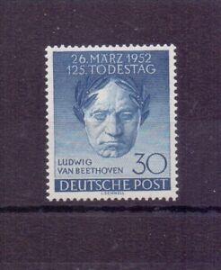 Berlin-1952-Beethoven-MiNr-87-postfrisch-geprueft-Michel-45-00-885