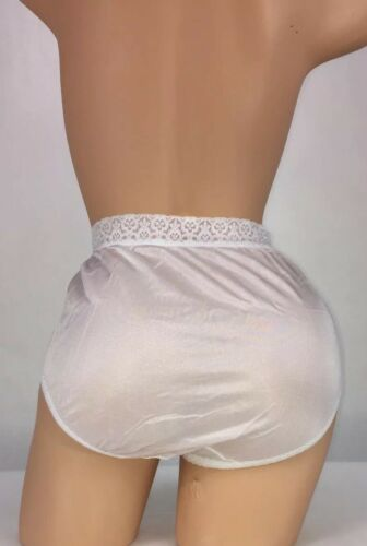 1 Fruit Of The Loom Nylon Briefs Size6 Panties Lace Waist Band.