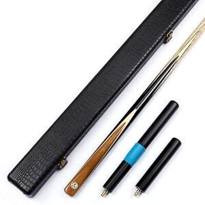 034-Grand-Cues-034-9-5mm-or-8-5mm-1-Pc-Ebony-Teak-Wood-Handmade-Snooker-Cue-Set-YP55