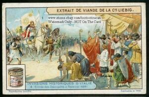 Ostogoths-Theodoric-Enters-Ravenne-Italy-1920s-Trade-Ad-Card