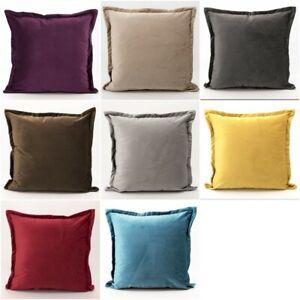 Dutch-Velours-Coussin-Decoratif-Sham-Couvre-Doux-Luxe-Sofa-Pillow-Case-18-034