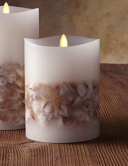 Luminara SEASHELL 5  Flameless Candle NEW in box
