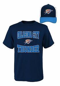 best website 738ea 72485 Details about NBA Youth Boys XL Oklahoma City Thunder T-Shirt & Hat Set OKC