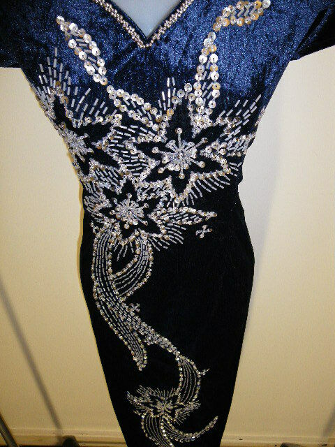 SALE! Plus Size 20 (D9-DB) New Dinner Dress Long Dress Party Gown with Sequins