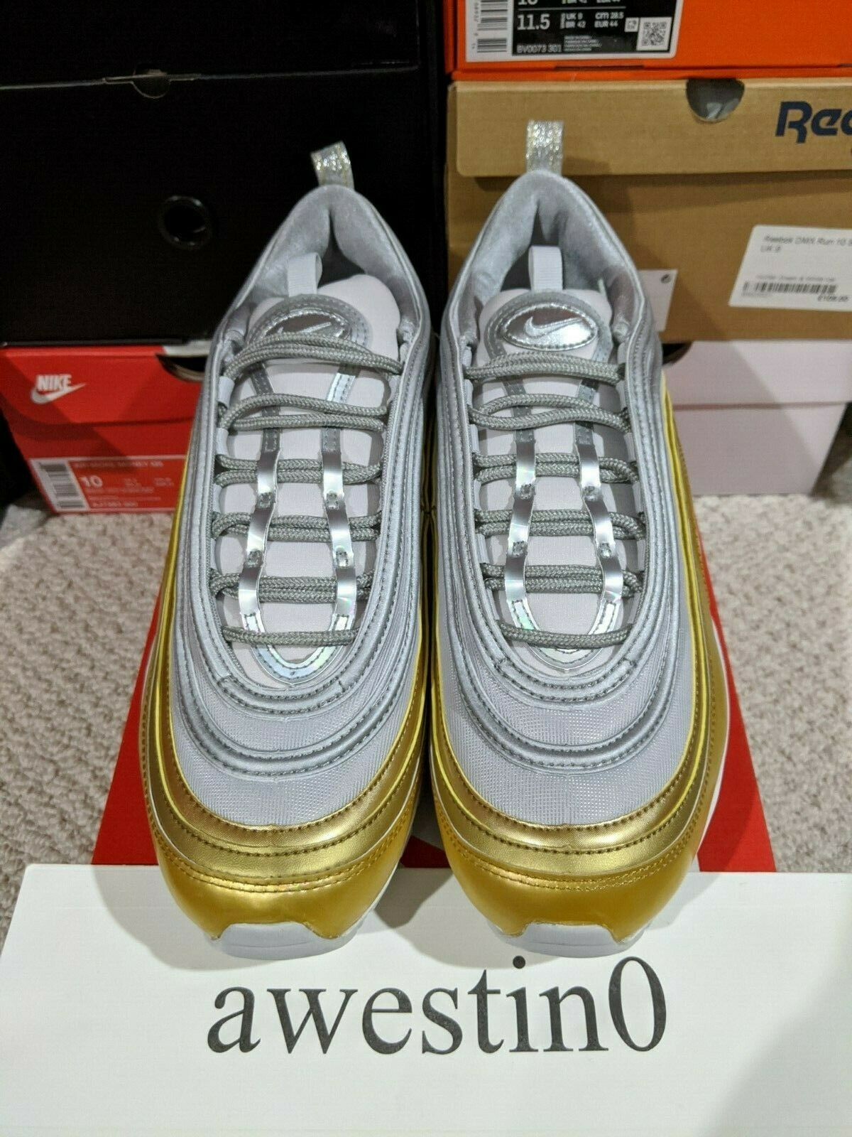 Ironico papa molestia  DS Nike Air Max 97 SE Vast Grey/Metallic Silver AQ4137 001 Size  11.5(W)/10(M) for sale online