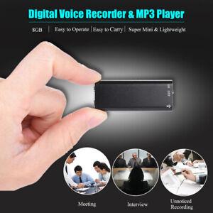 Mini-Registratore-Digitale-8GB-USB-Vocale-Ricaricabile-musica-mp3-Giocatore-C7V2