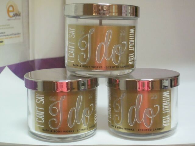 3 BATH /& BODY WORKS I CAN/'T SAY I DO WITHOUT YOU SCENTED CANDLE 1.3oz NEW!
