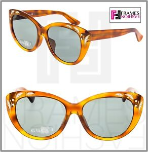b8f490a8d0 GUCCI GG3828 F S Blonde Havana Mother Of Pearl Sunglasses ASIAN FIT ...