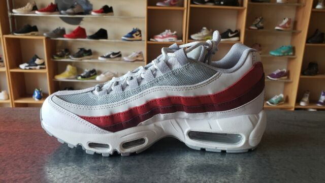 Nike Air Max 95 Essential Mens 749766 103 White Grey Red Running Shoes Size 13