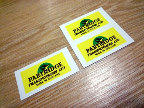 PARTRIDGE LOGO water decal sticker label Type-A New reproduction