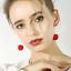 Le-Donne-Carino-resina-rotonda-Red-Cherry-Frutta-Goccia-Dangle-Earrings-gioielli-regalo-festa miniatura 3