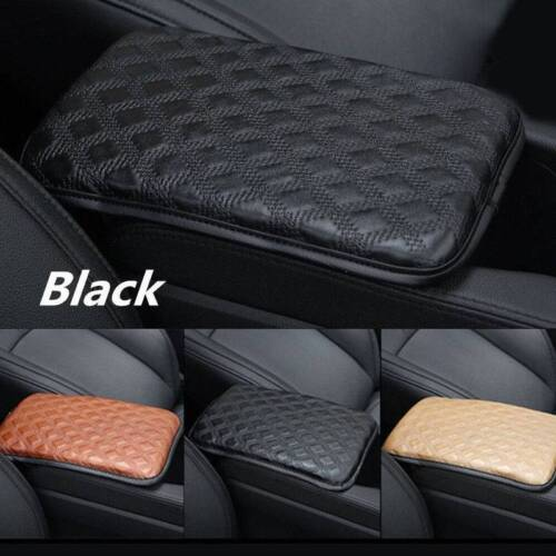 11.8/'/'×8.3/'/' Car PU Leather Center Armrest Cover Console Box Pad Universal Black