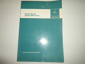 1976 MERCEDES Engines OM 615 617 Service Repair Shop Manual OEM FACTORY