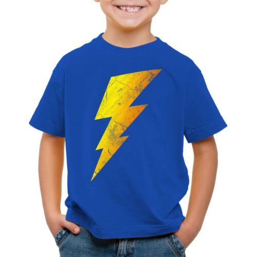 Sheldon Lightning Bolt Bambini T-shirt Flash Flash Bang COMIC Cooper Big Theory