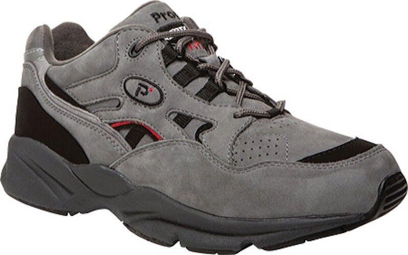 Propet Stability Walker Shoes (Men's) 95 NEW in Grey/Black Nubuck leather