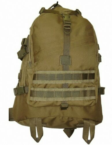 KHAKI MILITARY RECON 40LT MOLLE BACKPACK #FREE 2LT WIDE MOUTH BLADDER TAS 1198