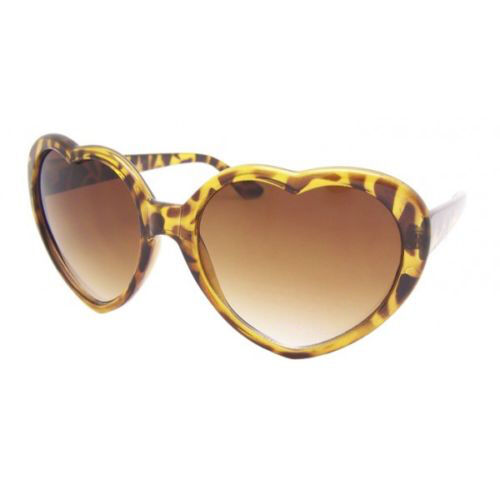 Forma Cuore Occhiali da Sole Oro Boho Festival Lolita Stile Vestito da Festa