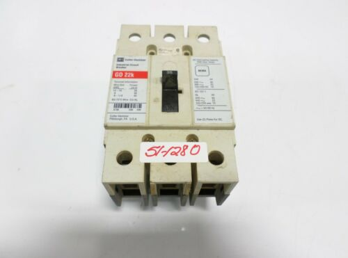 CUTLER-HAMMER 35 AMP 3 POLE CIRCUIT BREAKER GD 22K