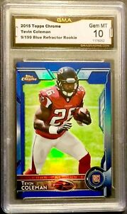 2015-Topps-Chrome-TEVIN-COLEMAN-Blue-Refractor-199-RC-GMA-10-Gem-Mint-PSA-BGS