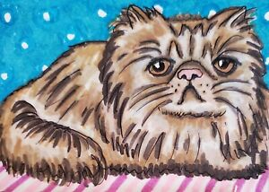 Persian-Red-Tabby-Cat-ACEO-Original-Miniature-Painting-by-Artist-KSAMS-2-5x3-5