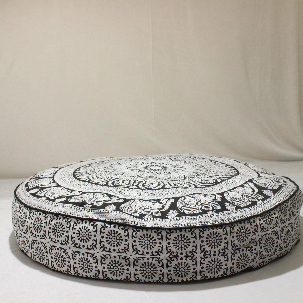 Worldwideretailers Blue Mandala Floor Pillow Cushion Seating Throw Cover Hippie Decorative Bohemian Boho Indian 32