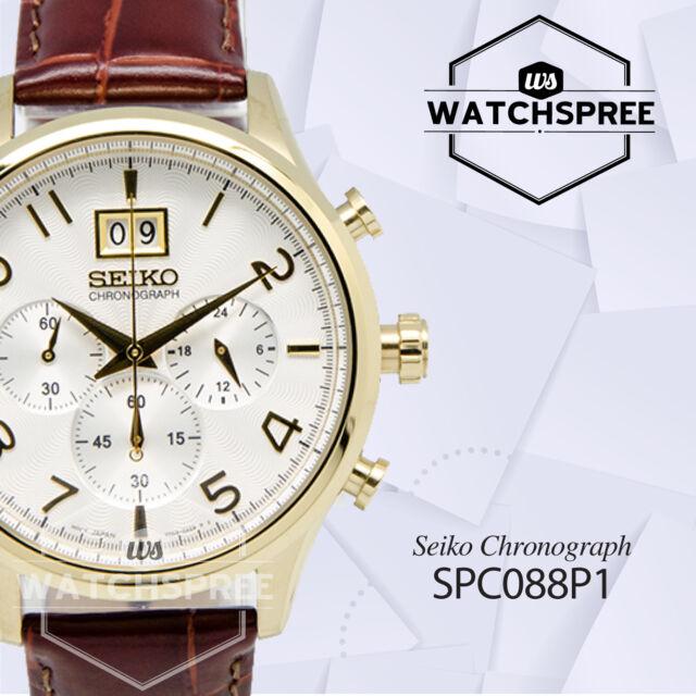 Watch Strap Seiko Chronogragh 42mm Spc088p1 Classic Mens Neo Leather JFK1clT
