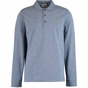 New-Lacoste-Men-s-Long-Sleeve-Polo-Shirt-Slim-Fit-Size-XXL-Classic-Blue-2XL