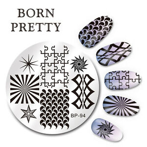 BORN-PRETTY-Nail-Art-Stamping-Image-Plate-Stencil-Geometry-Figure-DIY-BP-94