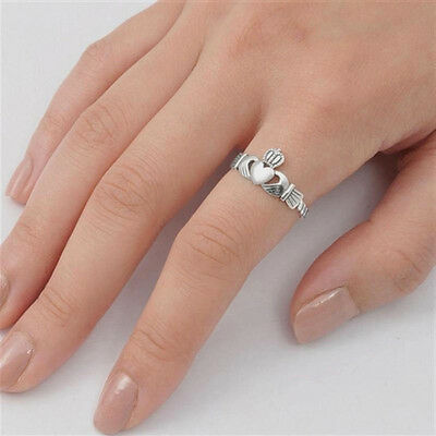 USA Seller Plain Crown Toe Ring Sterling Silver 925 Best Deal Adjustable Jewelry