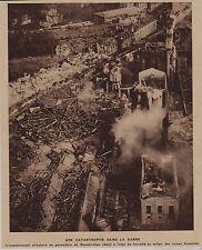 1933  --  SARRE  EXPLOSION DU GAZOMETRE DE NEUNKIRCHEN   3G440