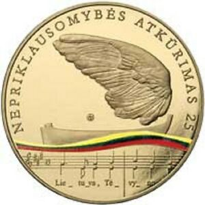 Lithuania-5-Euro-25th-anniversary-of-restoration-of-Lithuania-s-independence