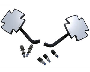 Mirror-Motorcycle-Iron-cross-Black-for-Harley-Models-2-x-Adapter-M10-x-1-25